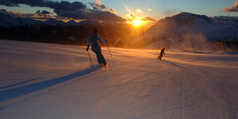 narty o wschodzie słońca