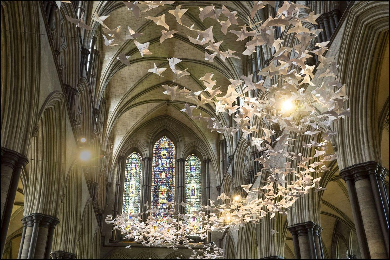 Katedra Salisbury - Instalacja scenograficzna