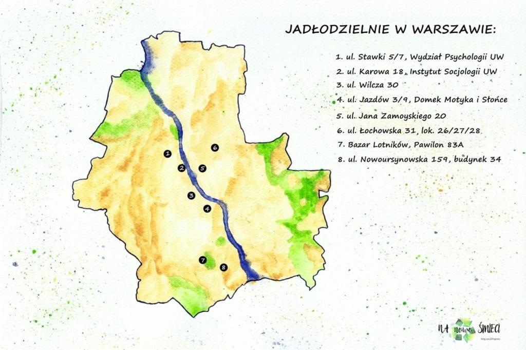 Jadłodzielnie w Warszawie